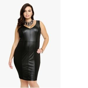 Women Faux Leather Dress Plus Size on Poshmark